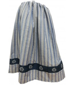 Skirt Homemade Striped Blue and Gray with Eguzkilore