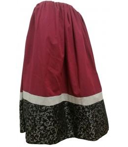 Skirt Homemade Tri-Color Garnet