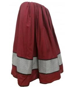 Skirt-Homemade, Two-Tone Garnet