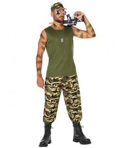 Disfraz de Militar con Tirantes