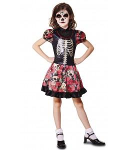 Disfraz de Catrina Flores Infantil