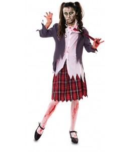 Costume d'Écolière Zombie