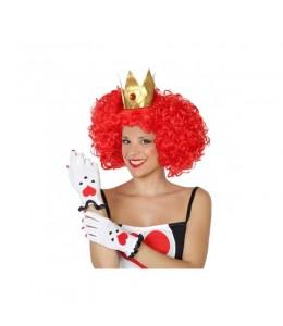Ensemble de Perruque et des gants de la Reine de cœur
