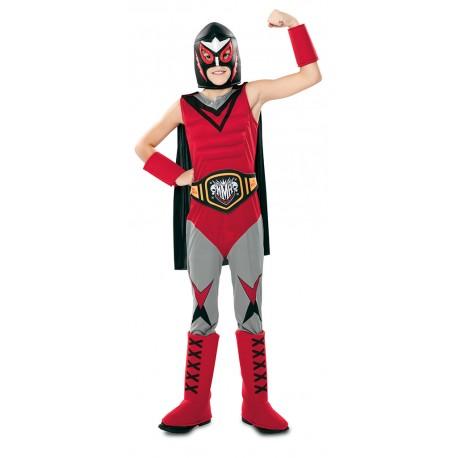 Disfraz de Campeon de Lucha Libre Infantil