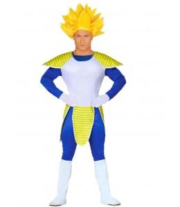 Disfraz de Guerrero Espacial con peluca Amarilla