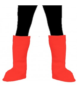Cubrebotas Rojo de fieltro
