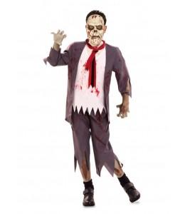 Disfraz de Colegial Zombie con mascara