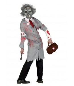 Disfraz de Doctor con mascata Zombie