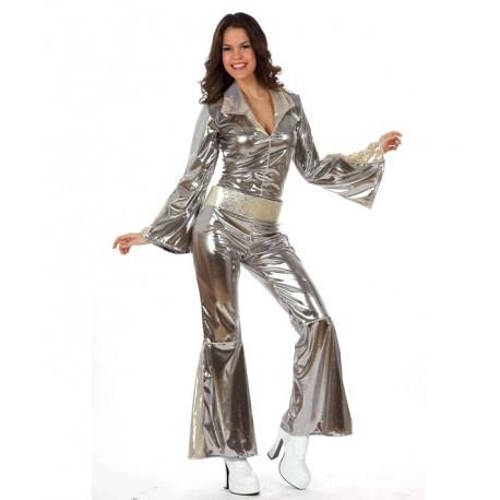 Disfraz de Disco Buzo Plata Chica