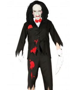 Disfarce de Marionete assassina com máscara