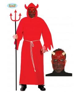 Disfraz de diablo con mascara