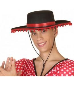 Sombrero Cordobes Con Borlas