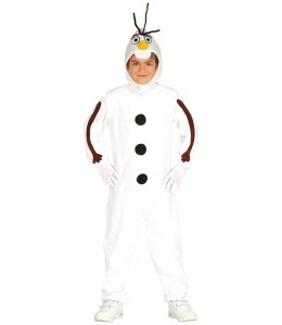 Costume of snowman for child