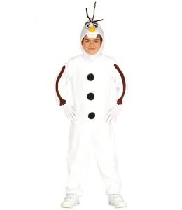 Disfarce de boneco de neve infantil