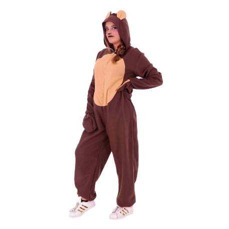 Disfraz de Oso Marron Pijama