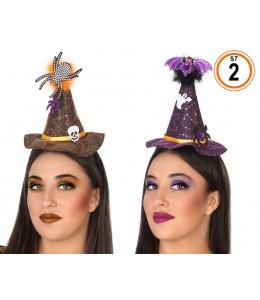 Sombrero de Bruja Mini con Diadema