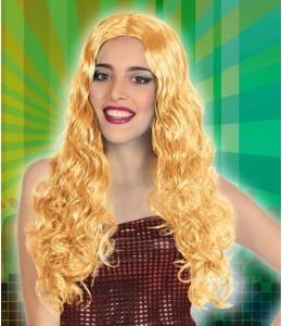 Perruque De Longs Cheveux Ondulés Rouge