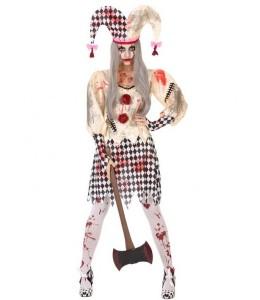 Disfraz de Arlequin Sangriento mujer