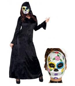 Disfraz de Catrina Hechicera Negra