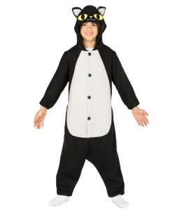 Kostüm Schwarze Katze Pyjama