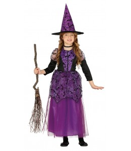 Disfraz de Bruja Lila Infantil