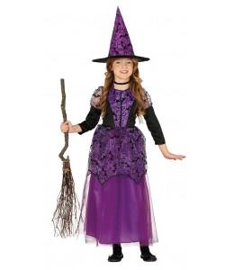 Fantasia de Bruxa Lilás Infantil
