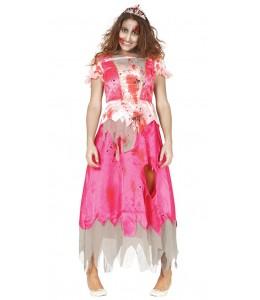 Disfraz de Princesa Rosa Zombie