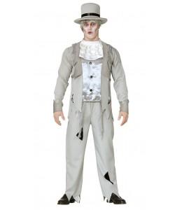 Disfraz de Novio Fantasma Gris