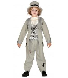 Traje do Noivo Fantasma Cinzento Infantil