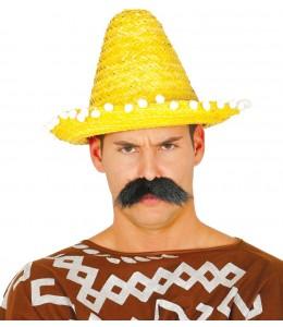 Sombrero Mejicano 33cm Amarillo