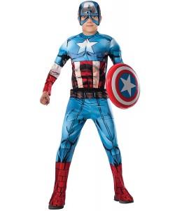 Disfraz de Capitan America Comic Deluxe