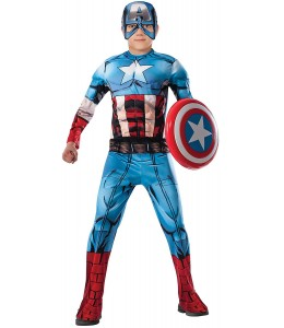 Kostüm Captain America Deluxe Comic