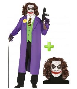 Disfraz de Payaso de Comic con mascara