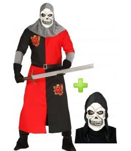 Disfraz de Caballero rojo calavera
