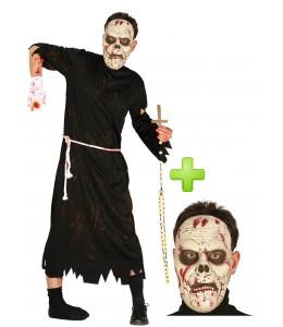 Disfraz de Cura Zombie con mascara