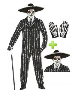 Disfraz de Calavera Mejicana con traje