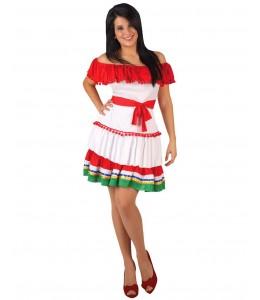 Disfraz de Mejicana corto