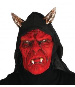Mascara de Demonio Rojo con Capucha