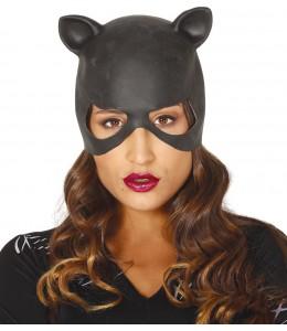 Maske Frau Latex-Katze