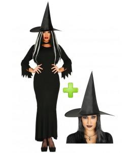 Disfraz de Bruja Negra largo