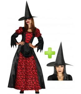 Disfraz de Bruja Roja Gotica