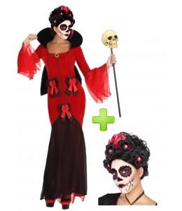 Disfraz de Catrina Roja