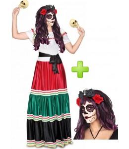 Disfarce de Catrina Mexicana