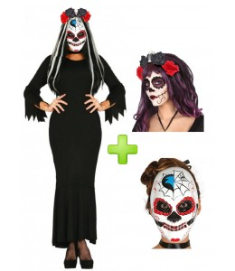 Costume Catrina Black Dress
