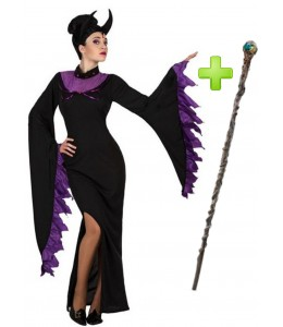 Costume of Fairy Evil with a stick