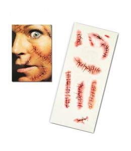 Tatuaje FX Heridas Cosidas y Grapadas