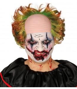 Glatze Clown mit Haar Grün