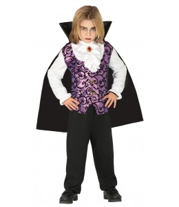 Kostüm Vampir-Lila Kinder