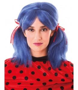 Wig Pigtails Blue