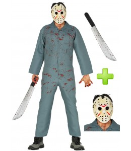 Costume scuba diver killer Hockey con machete